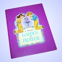 "Paperback Vintage Book  Booklet  "" A Child's Garden of Prayer """