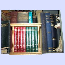 Lovely Mid Century Modern Gail Craft Book Case  Coaster Set Home Decor Accent