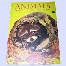 """Over Sized Children's Book """"Animals Every Child Should Know """""""