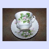 Lovely Quality Royal Albert  England Mayflower Floral Themed Tea Cup & Saucer