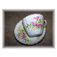 Vintage Spring Bouquet Flower  Motif Tea  Cup & Saucer T.F & S . LTD