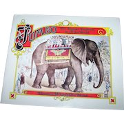 """Soft Bound Book Booklet """" Jumbo The Biggest Elephant in all the World """" Circus Memorabilia"""