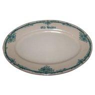 Hights Restaurant  Ware Platter Scammell's Trenton Lenape China