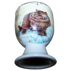 Vintage Collectible Porcelain  Kitty Cat Egg Cup Crown Ashton New Brunswick