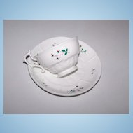 Very Old Sprig Ware Tea Cup & Saucer Set 929