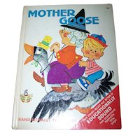 Vintage Children's Book  Mother Goose Rand McNally Elf Book