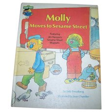 Vintage Children's Book Molly Moves to Sesame Street C. 1980