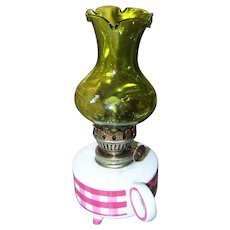 Small Vintage Kerosene Oil Lamp JAPAN
