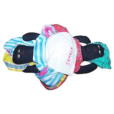 What A Great Old Topsy Turvey Turvy Flip Flop Souvenir Doll Jamaica
