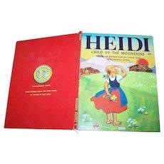 Heidi Child of the Mountains Wonder Book C. 1950