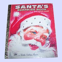 """ Santa's Surprise Book "" 1976 A Little Golden Book by Joan Potter Elwart"