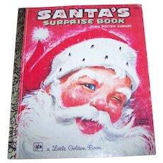 """ Santa's Surprise Book "" 1976 A Little Golden Book by Joan Potter Elwart"