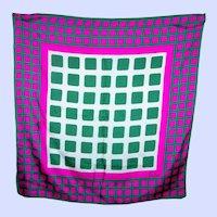 Wearable ART  Op Art Designer Signed ECHO Geometric Pattern  Ladies Mod Style Scarf