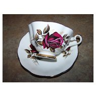 Royal Imperial Fine Bone China Cup & Saucer Rose Motif