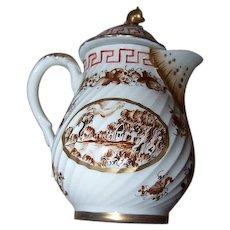 Collectible RARE Samson Porcelain Miniature Pot Painted Cottage Tree Leaf Vine Motif