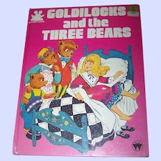 """Vintage Children's Over Sized Book """" Goldilocks and the Three Bears """" Story Time"""