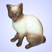Meow A SylvaC Siamese Pussy Cat Figurine 99 Siamese Chocolate Point