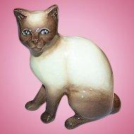 Meow A SylvaC Siamese Pussy Cat Figurine 99 Siamese Chocolate Point