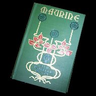 Fabulous Cover Maurine & Other Poems Book By Ella Wheeler Wilcox Copyright 1888 Poetry