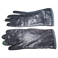 Fashion Accessory Ladies Genuine Black Leather Gloves By Fownes Ladies Medium