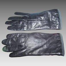 Fashion Accessory Ladies Genuine Black Leather Gloves By Fownes Ladies Medium