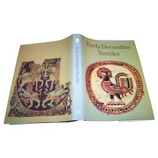 """A Cameo Reference Book """" Early Decorative Textiles  by W. Fritz Volbach"""