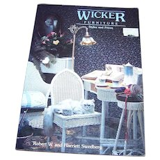 """Soft Cover Book Reference Book """" Wicker Furniture """"Styles and Prices"""