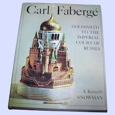 Reference Book Carl Faberge GoldSmith  To The Imperial Court Of Russia