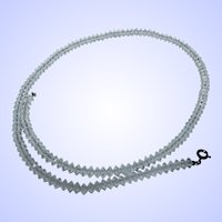 What  A Lovely  Delicate Deco Style Rock Crystal Bead Necklace Fashion Accessory