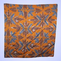 Vintage Vera Neumann Machine Stitched  Edge Branch Leaf Fall  Themed Scarf Napkin Handkerchief