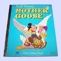 "A Vintage Walt Disney's "" Mother Goose "" Children' s Book WDP"