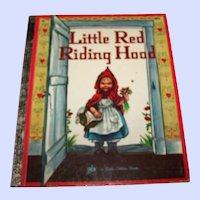 """Children's Book """" Little Red Riding Hood """" A Little Golden Book"""