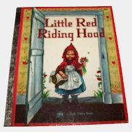 "Children's Book "" Little Red Riding Hood "" A Little Golden Book"