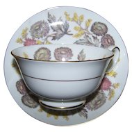 Lichfield Floral Tea Cup and Saucer Set Wedgwood Bone China Lovely Quality