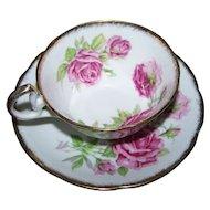 Orleans Rose Floral Tea Cup Saucer Set Royal Standard
