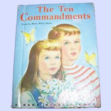 "What A Charming Little Children's Book "" The Ten Commandments """