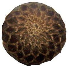 Collectible  Sentimental Victorian Era  Woven Human Hair Button