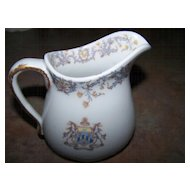 Rare Lamberton  China Restaurant Ware Syrup /  Pitcher  Young's Hotel Boston