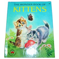 """A Charming Vintage Child's  Book """" The Wonder Book of Kittens """""""