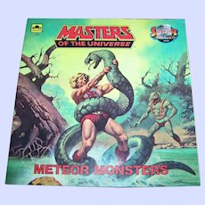 """Soft Cover Book Booklet """" Masters of the Universe """" Meteor Monsters by Jack C. Harris"""
