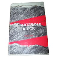"Hard Cover Book "" HEARTBREAK RIDGE "" Arned L. Hinshaw  Korea 1951"