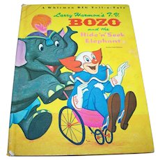 Larry Harman's T.V. Bozo and the Hide N Seek Elephant Hard Cover Book
