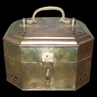 Vintage Brass Metal Ware Cricket Box Made in India