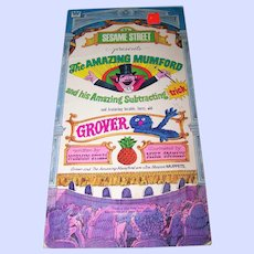 """Early CTW Sesame Street Paperback  Book """" The Amazing Mumford and his Amazing Subtracting Trick """""""