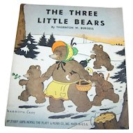 """Paper Booklet Book  """" The Three Bears """"  Illustrated by Harrison Cady"""