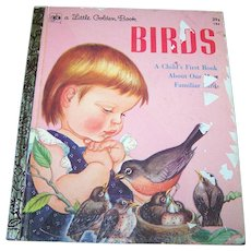 "Charming Illustrated Children's Book "" BIRDS "" a Little Golden Book"