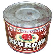 Estabrooks Red Rose Advertising Coffee Tin Can Saint John New Brunswick