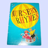 """Soft Cover Children's Illustrated Book """" Nursery Rhymes """"  Golden Press"""