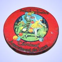 Advertising TIN Litho  LID ONLY Macintosh's Carnival Assortment de Luxe