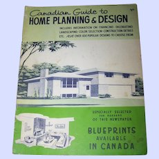 Paper Booklet Canadian Guide to Home Planning & Design 1963 ( Book ) Canadiana